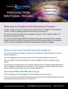 Freedom from emotional trauma