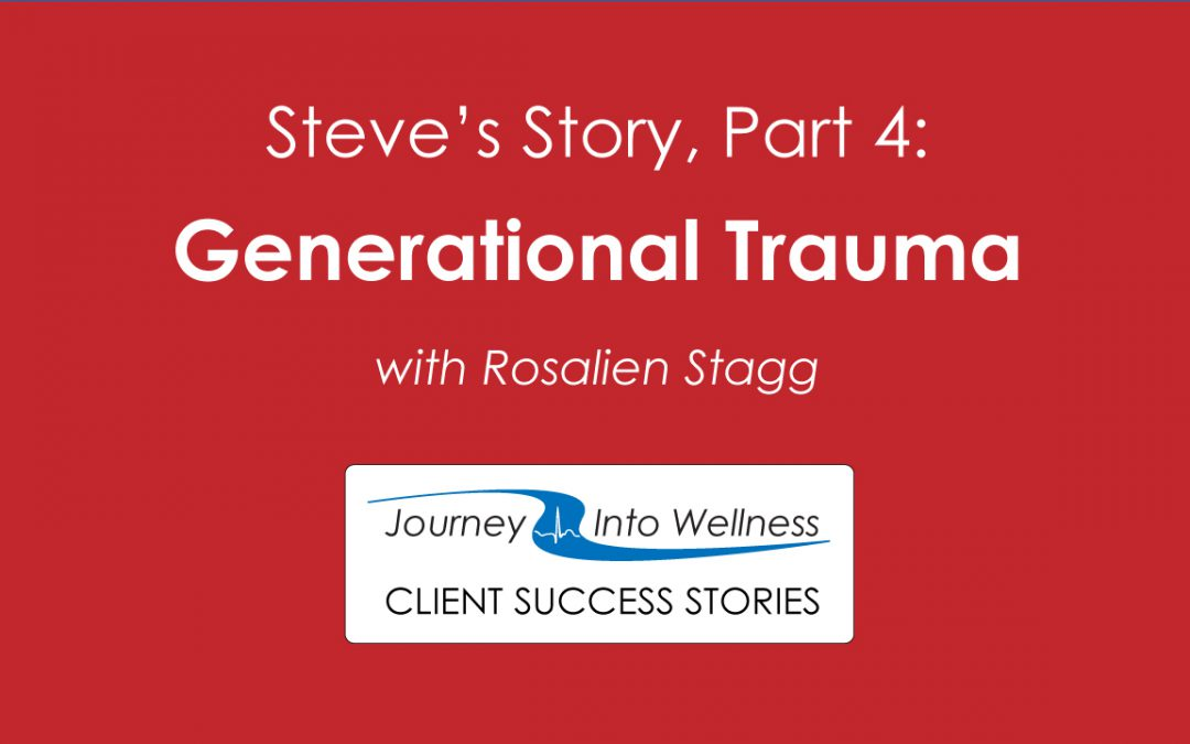 Steve's Story, Part 4: generational trauma and anger